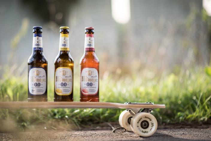 Werbefotografie Alkoholfrei 0.0 von Michael Barg für Kunde Bitburger Braugruppe